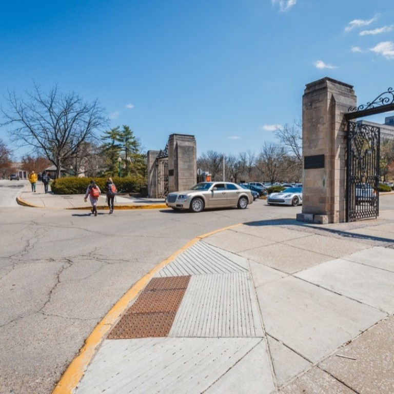 7th Street entrance to IMU parking and drop off area.